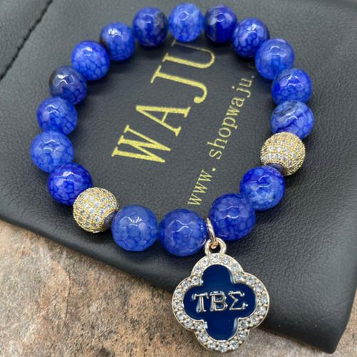 Tau Beta Sigma  Bracelet with clover