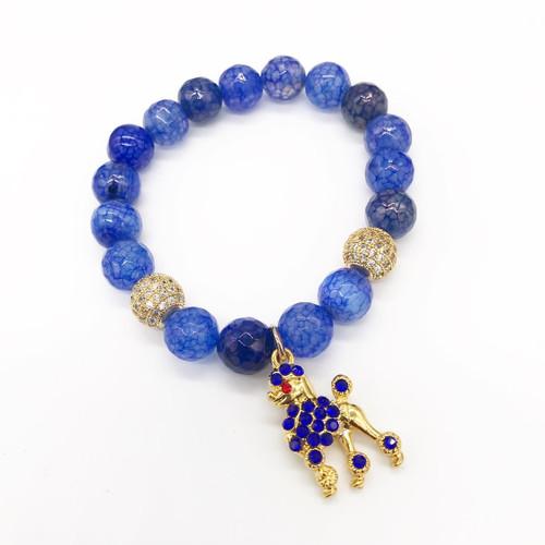 Sigma Gamma Rho Bracelet with poodle charm