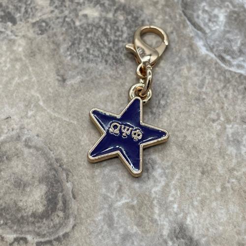 Omega Psi Phi Star Charm