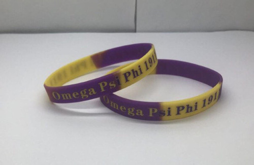 Omega Psi Phi 1911 Silicone Bracelet