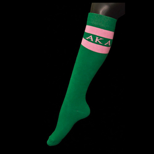Alpha Kappa Alpha Knee High Socks
