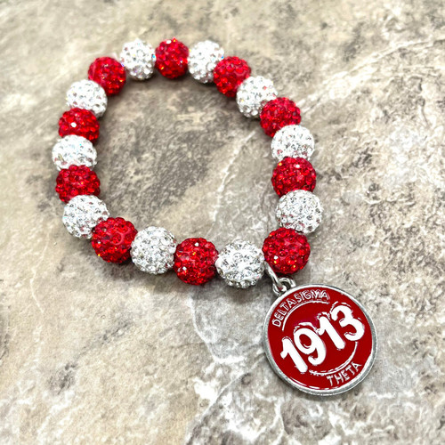 Delta Sigma Theta bling Bracelet with charm
