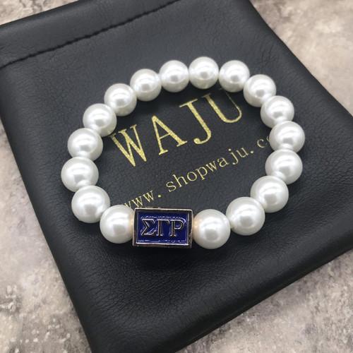 Sigma Gamma Rho Pearl Focal  Bracelet