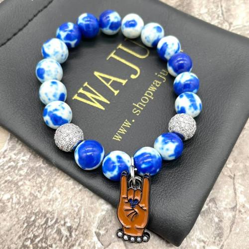 "Zeta Phi Beta ""Gabi"" Bracelet with pearl hand charm"
