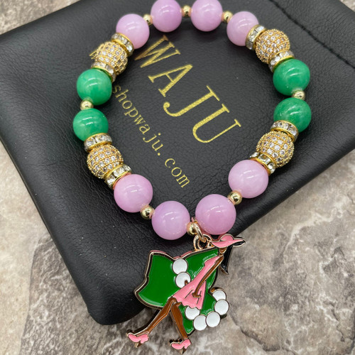 Alpha Kappa Alpha 'Gwen' Bracelet with Ivy lady