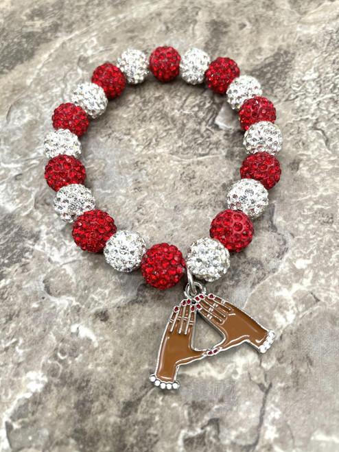 Delta Sigma Theta bling Bracelet with mid charm