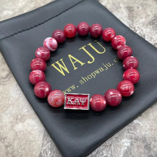Kappa Alpha Psi Nupe Krimson Agate bracelet