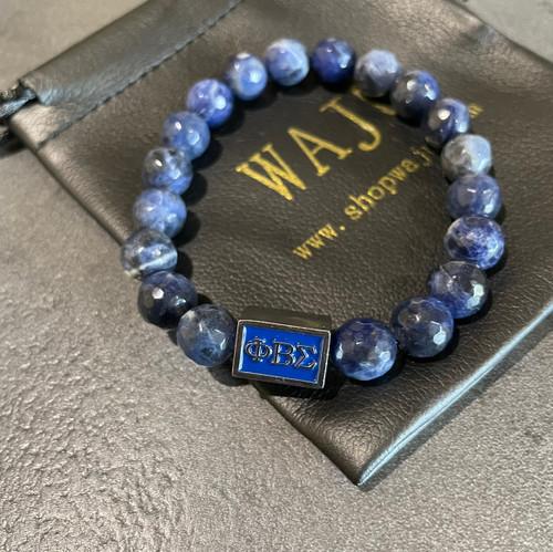 Phi Beta Sigma Sodalite Bracelet