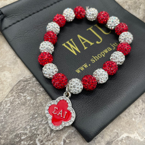 Sigma Alpha Iota bling Bracelet with mid charm