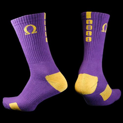 Omega Psi Phi Crew Socks