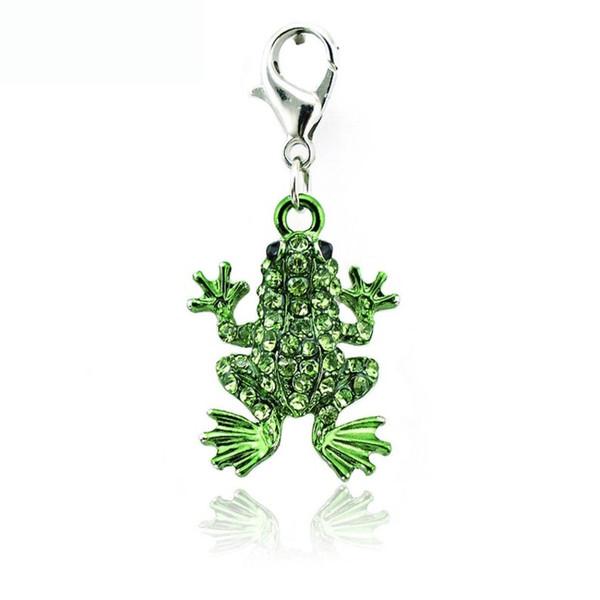 Rhinestone Frog Charm