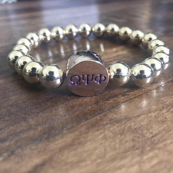 """Omega Psi Phi Bracelet """"Gold Blooded"""" Bracelet"""
