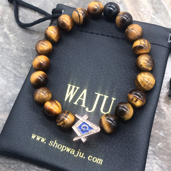 Mason Tiger Eye Bracelet  - Vertical Bead