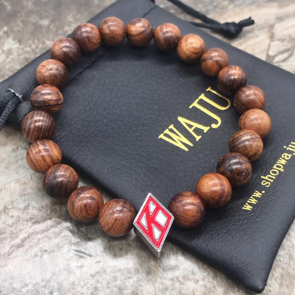 Kappa Alpha Psi Floating K Wood Bracelet