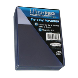 "Protect your cards and photos with these 3 1/2"" x 5"" Ultra Pro top loaders. Great for both storage and display."