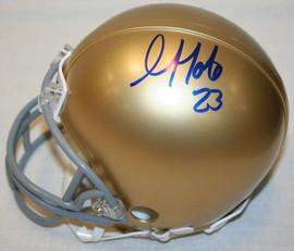 Golden Tate III Notre Dame NCAA Autographed Mini Helmet w/ JSA Certification