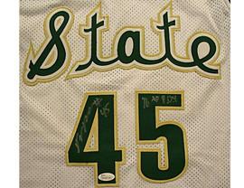 Denzel Valentine Michigan State Spartans Autographed White Throwback Jersey