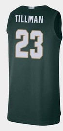 Xavier Tillman Autographed Away (green) Jersey