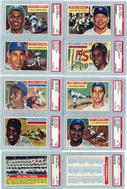 1956 Topps Baseball Graded Complete Set Break