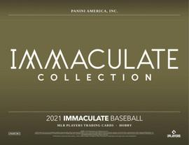 2021 Panini Immaculate Baseball Hobby Box (PRESELL)