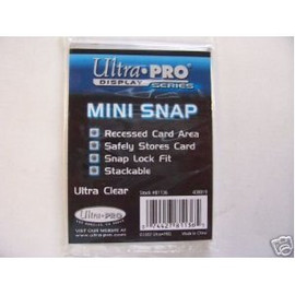 Showcase your favorite trading card with this stylish Ultra-Pro Snap Card Holder.