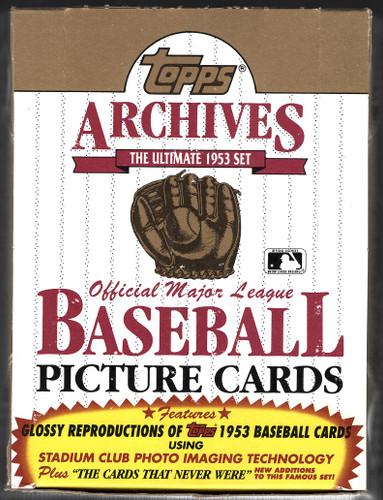 1991 Topps Archives Baseball 1953 Reproduction Box ~ 36 Sealed Packs