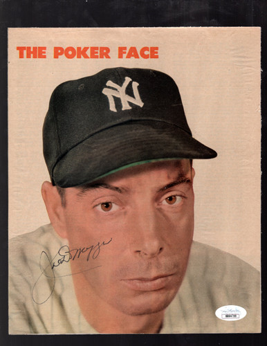 JOE DIMAGGIO Autographed Signed Color Magazine Photo Page Poker Face ~ JSA COA