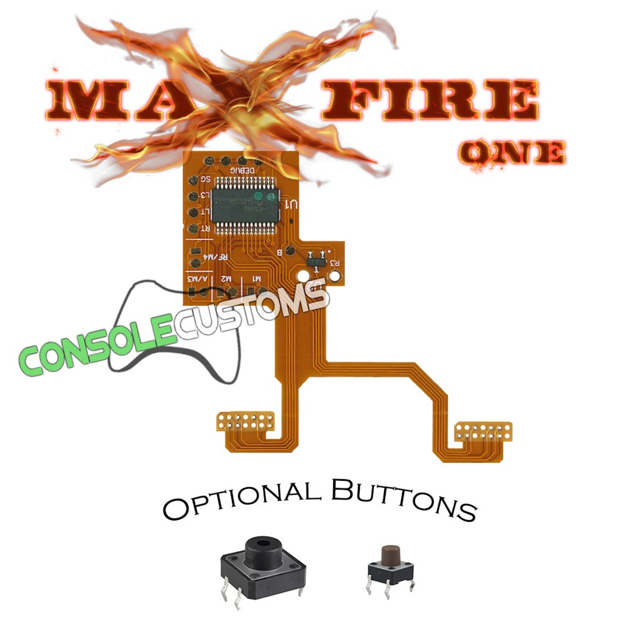 Xbox One MAXFIRE-REFLEX V3 button remapping flex mod