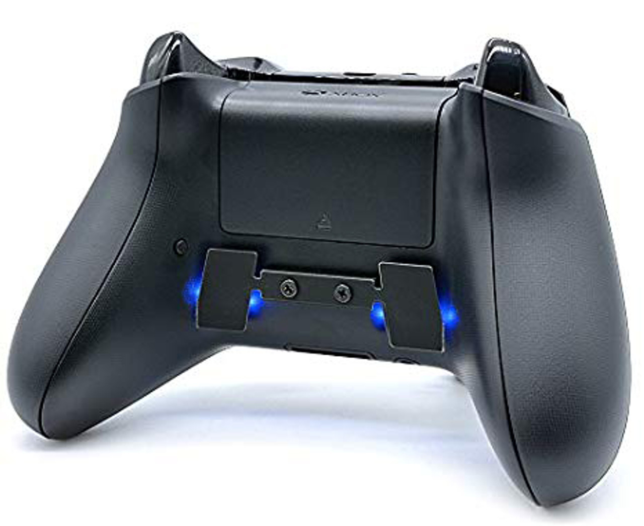 Xbox One controller with 2 button paddle and blue LEDs