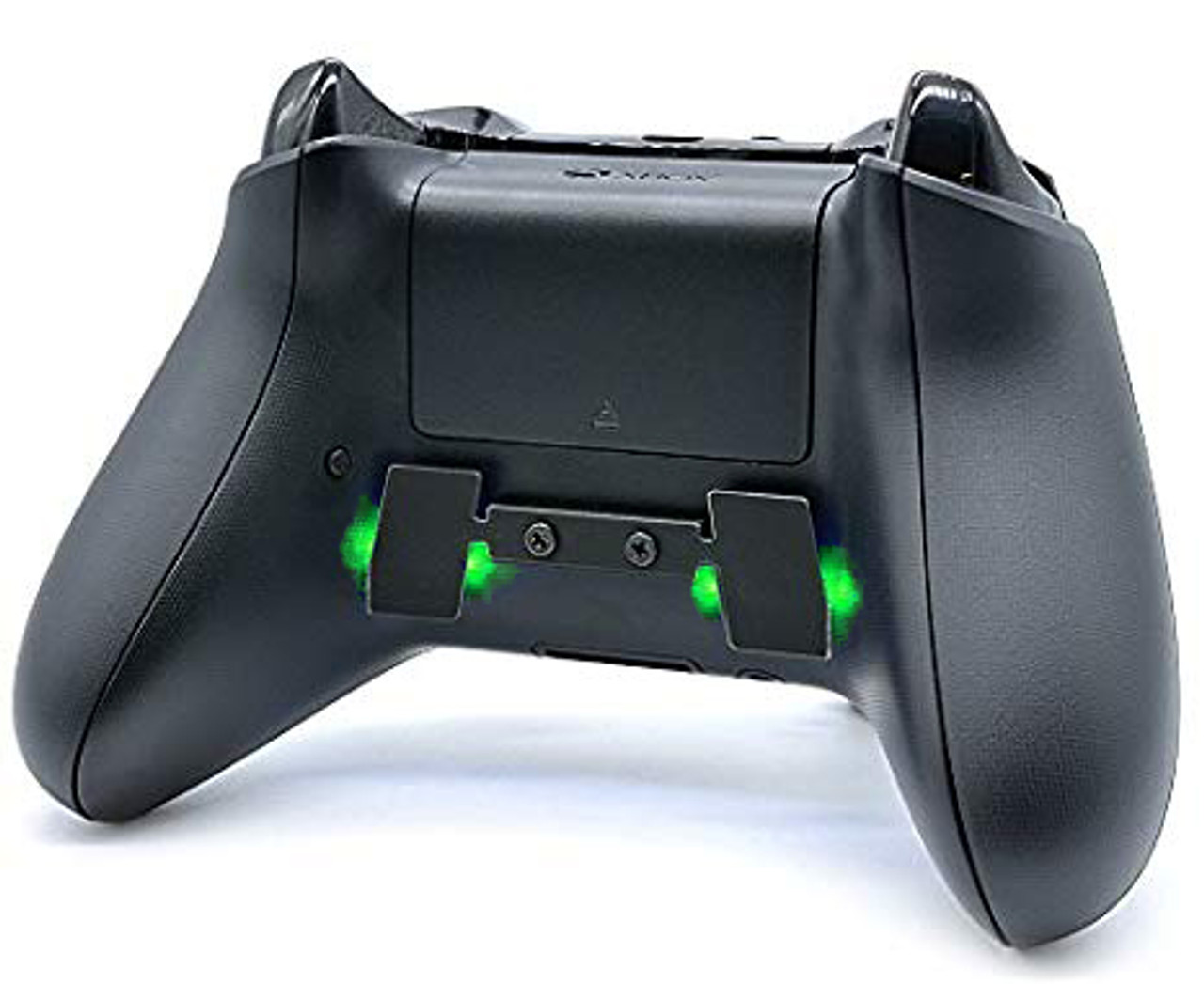 Xbox One controller with 2 button paddle and green LEDs