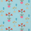 Potted Plants Cotton Twill Fabric