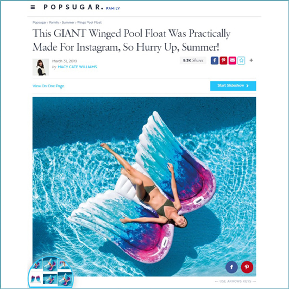 4/11/2019 - This GIANT Winged Pool Float Was Practically Made For Instagram, So Hurry Up, Summer!