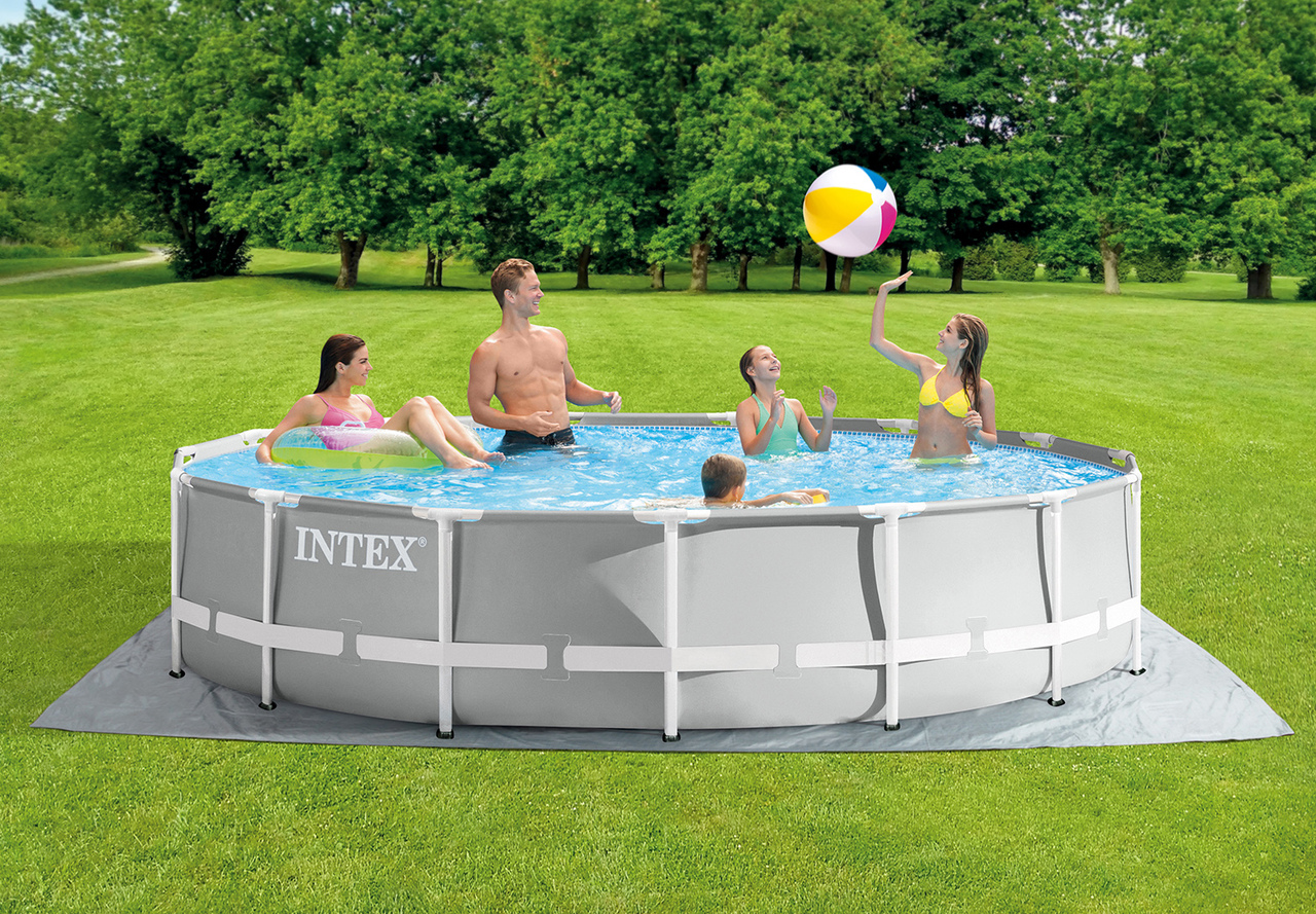 Intex 15ft X 42in Prism Frame Above Ground Swimming Pool Set