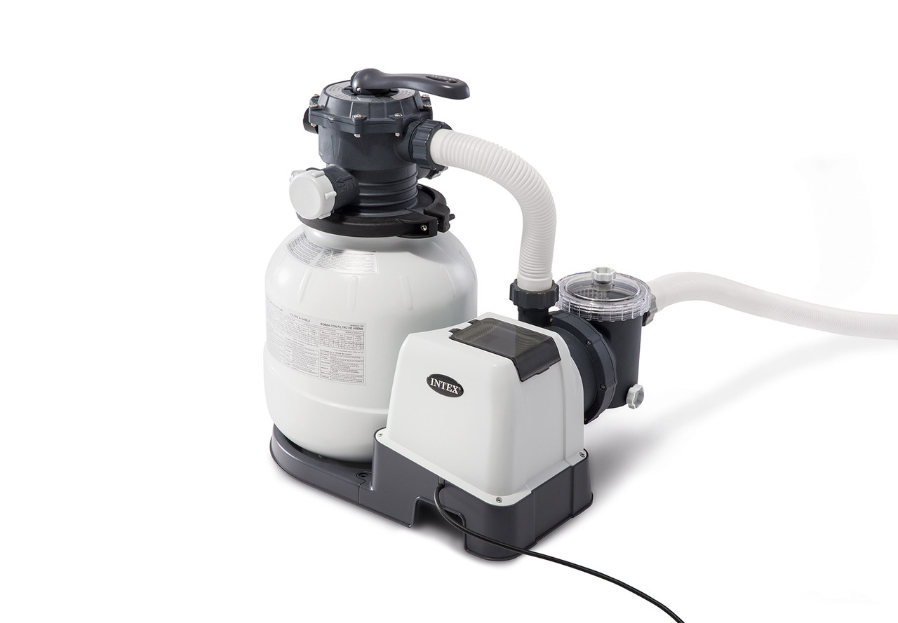 Intex 120-Volt Above Ground Sand Filter Pool Pump and Saltwater System