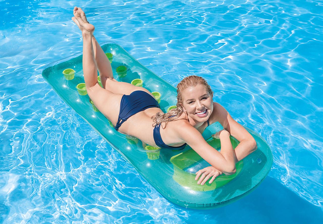 Intex 18-Pocket Suntanner Lounge Floating Lounger 59895EP Set of 2