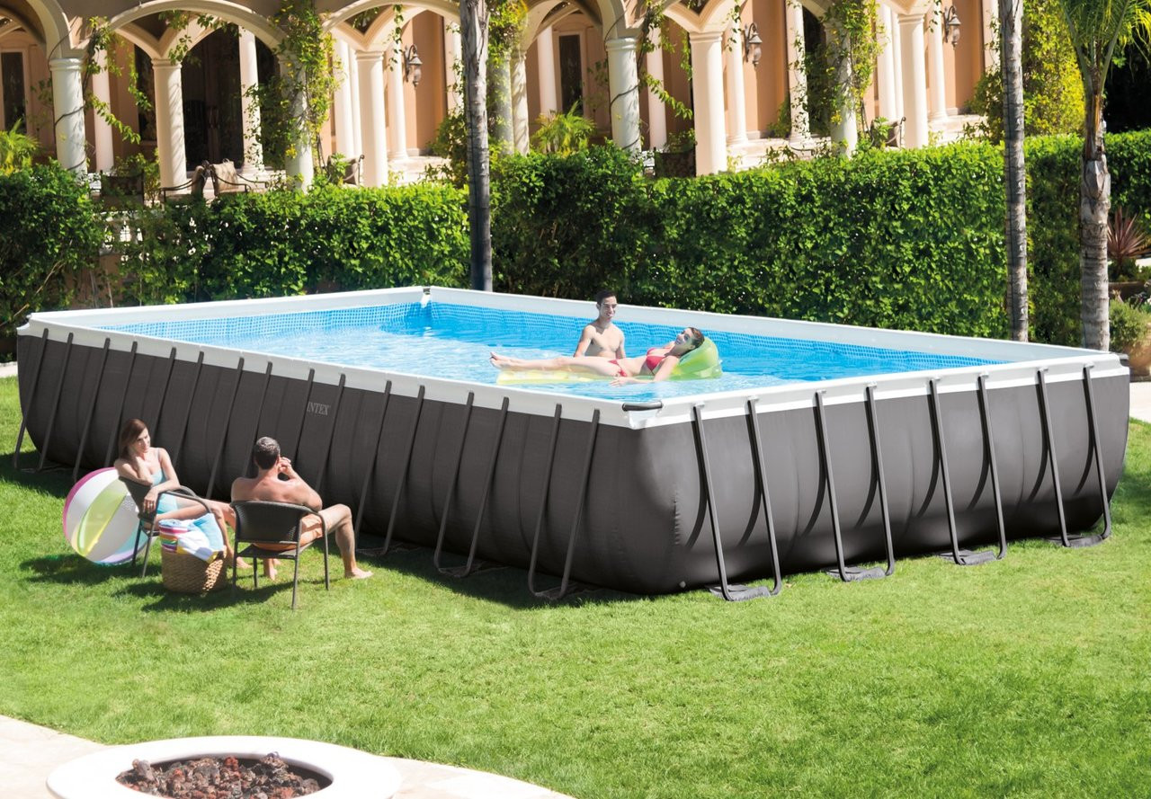 32ft X 16ft X 52in Ultra Frame Rectangular Pool Set with Sand Filter Pump