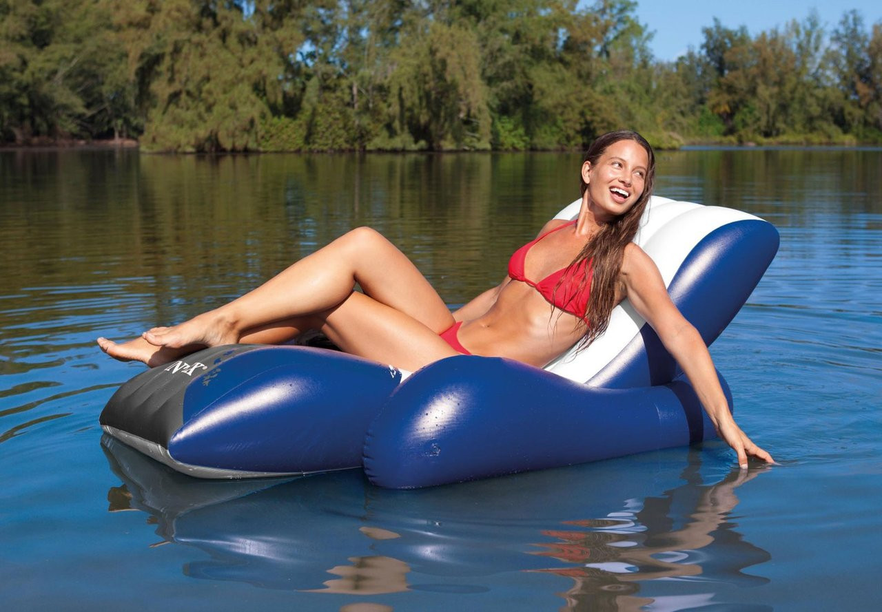 Reclining Armchair-Inflatable Massage Chair-Inflatable Pool Swimming Armchair