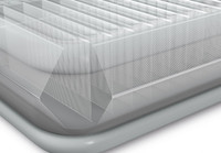 22in Queen Comfort Plush High Rise Airbed with Built-In Electric Pump
