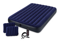 8.75in Queen Classic Downy Airbed With Hand Pump