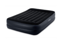 16.5in Queen Dura-Beam Pillow Rest Raised Airbed with Internal Pump