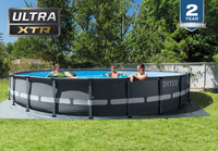 20ft X 48in Ultra XTR Frame Pool Set with Sand Filter Pump