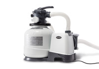 Powerful water filtration with included2,800 Gph Krystal Clear Sand Filter Pump