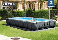 32ft X 16ft X 52in Ultra XTR Frame Rectangular Pool Set with Sand Filter Pump