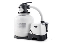 Powerful water filtration with included 2,650 Gph Sand Filter Pump & Saltwater System