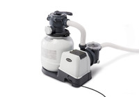 Powerful water filtration with included 2,100 Gph Krystal Clear Sand Filter Pump