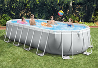 20ft X 10ft X 48in Prism Frame Oval Pool Set