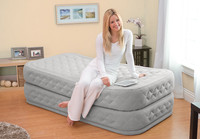 20in Twin Supreme Air-Flow Airbed with Built-In Electric AC Pump