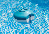 2-In-1 Floating Chlorine Dispenser with Thermometer