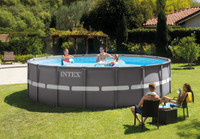 18Ft X 52In Ultra Frame Pool Set with Sand Filter Pump