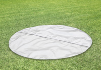 Ground cloth to protect button surface and minimize heat lost